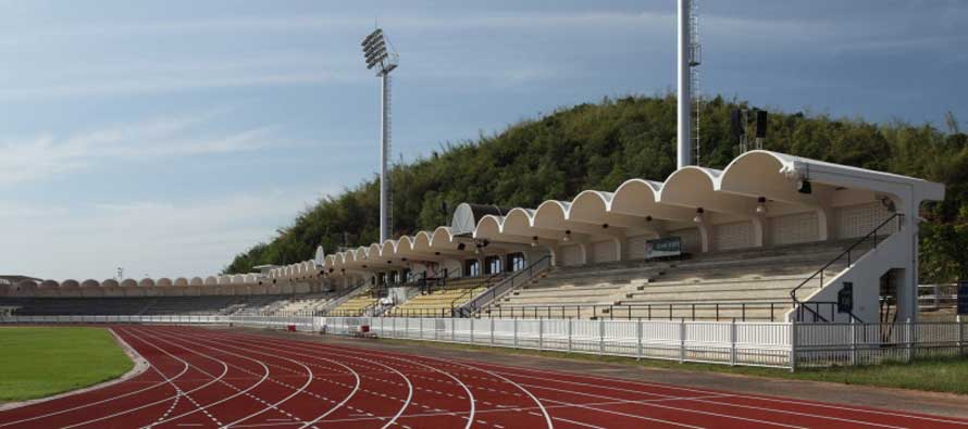 The main stand at the Navy Stadium