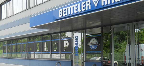 Exterior of SC Paderborn club shop