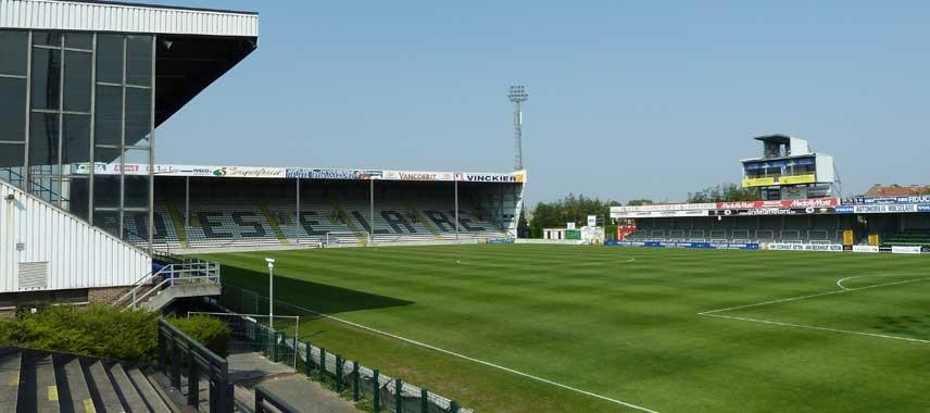 Main stand of Schiervelde Stadion