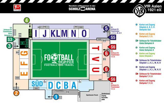 Scholz Arena Seating Plan