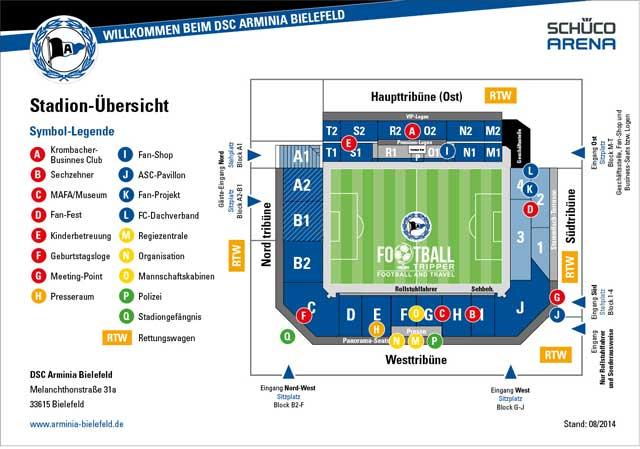 Schüco Arena stadium map