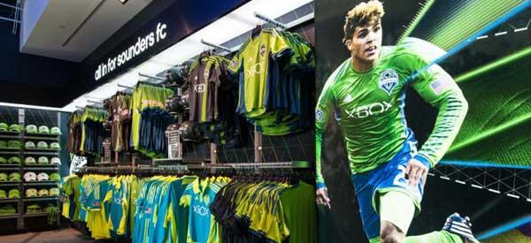 Inside Seattle Sounders club shop