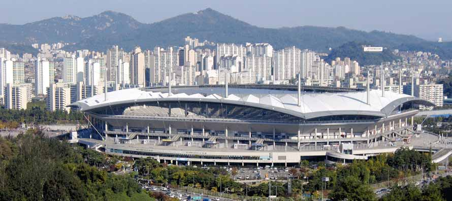 Aerial view of Seoul World Cup Stadium