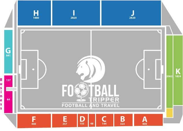 Stade du Pairay seating map