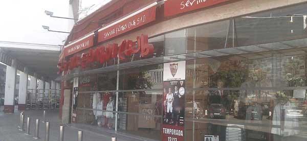Exterior of Sevilla FC club shop