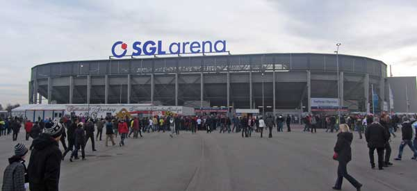 Exterior of SGL Arena