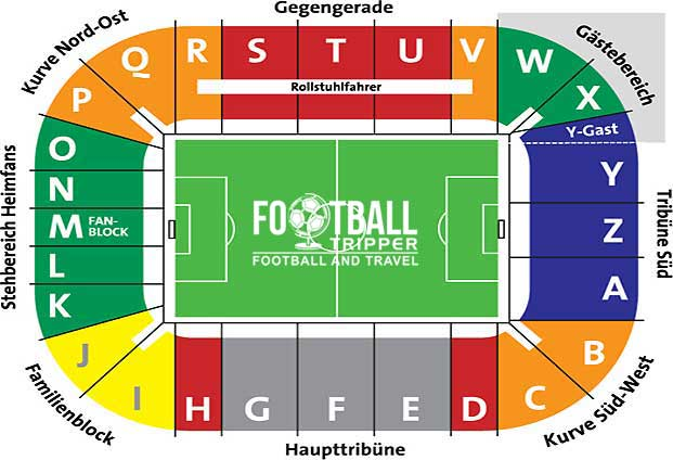 SGL Arena seating Plan