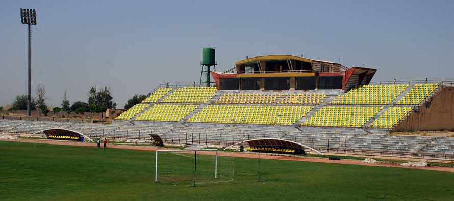 Main stand of Shahre Qods Stadium