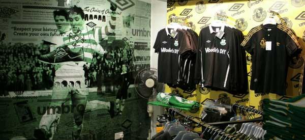 Interior of Shamrock Rovers Club Shop