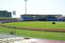The pitch at Sharjah Cricket Stadium