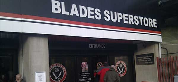 The exterior of the Sheffield United Club Shop