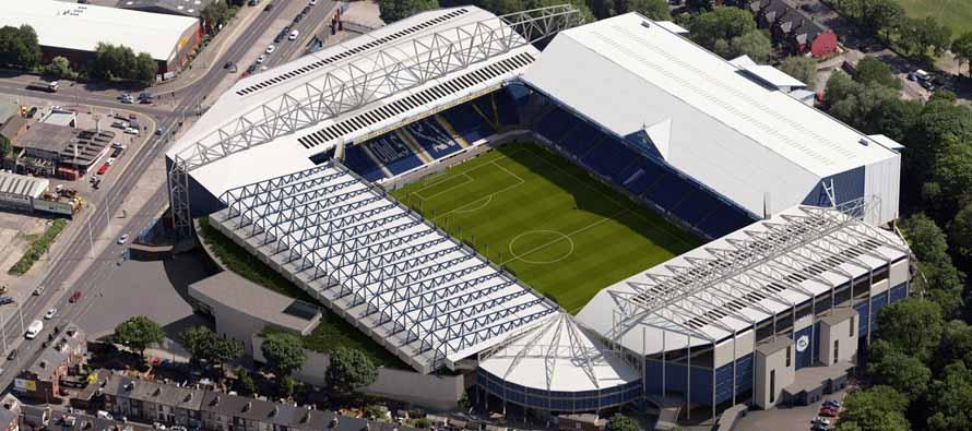 Aerial view of Hillsborough Stadium