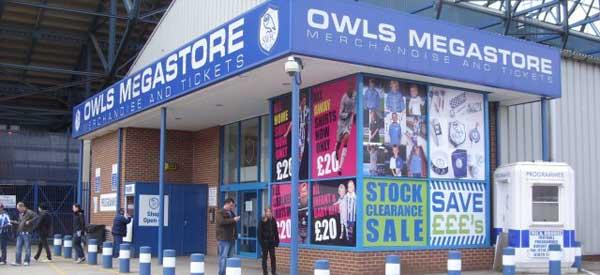 Exterior of Sheffield Wednesday club shop