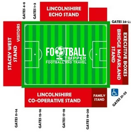 Sincil Bank Stadium Map