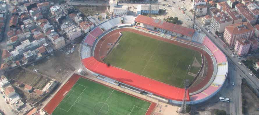 Aerial view of Sivas 4 Eylul Stadium