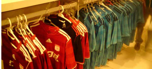 Inside Sivassport Kulubu club shop