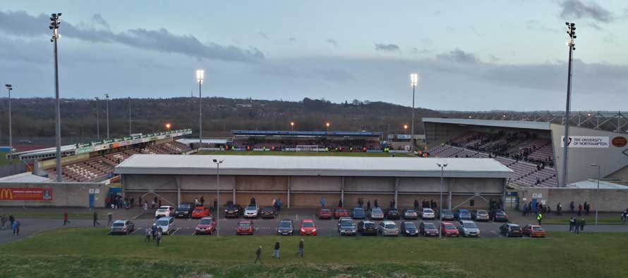Sixfields Stadium from afar