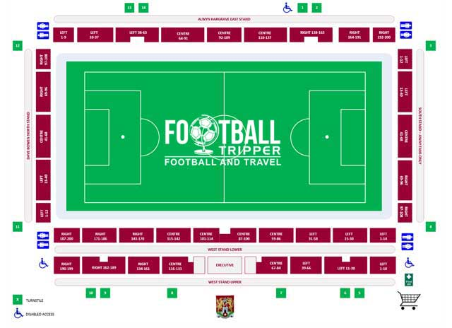 Sixfield Stadium Seating Plan