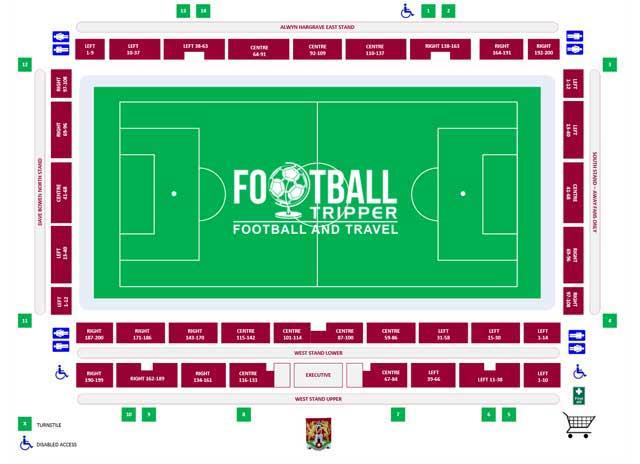 Sixfield Stadium Seating Plan