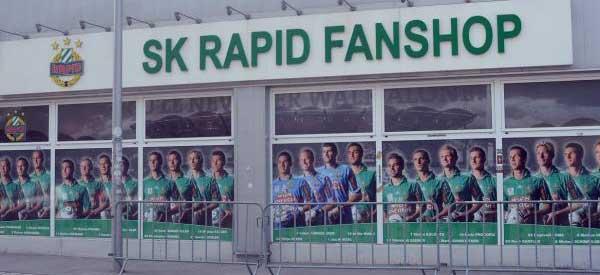 Exterior of SK Rapid Wien club shop