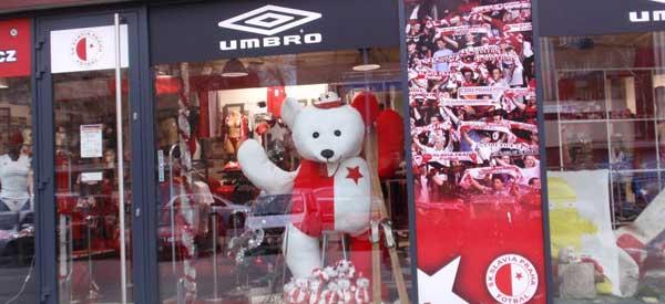 Exterior of SK Slavia Prague club shop