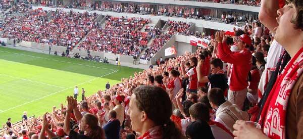 SK Slavia Prague supporters inside the stadium
