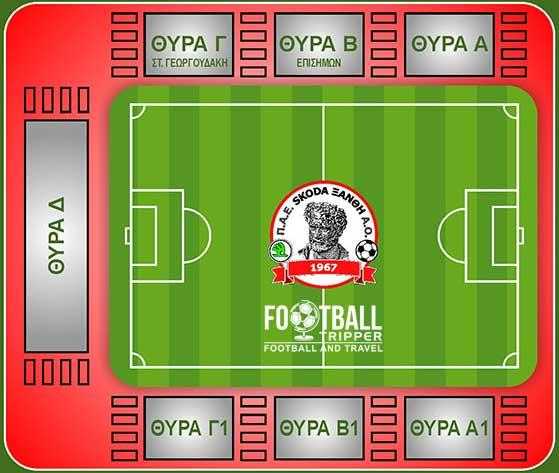 Skoda Xanthi Arena Map
