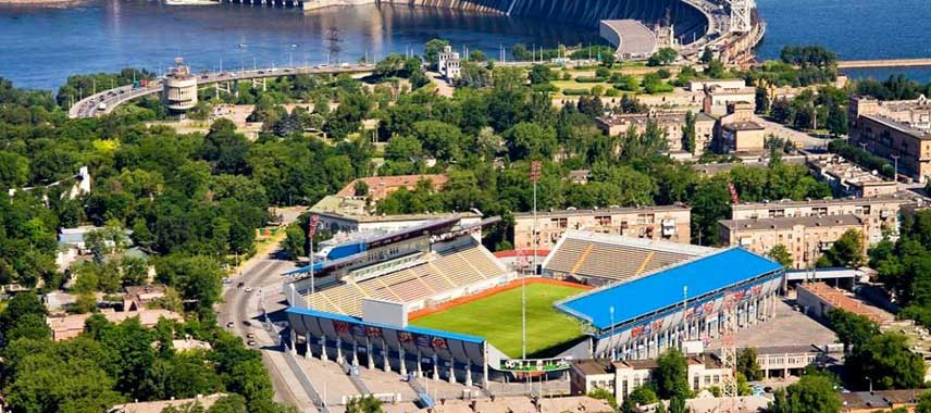 Aerial view of Slavutych Arena