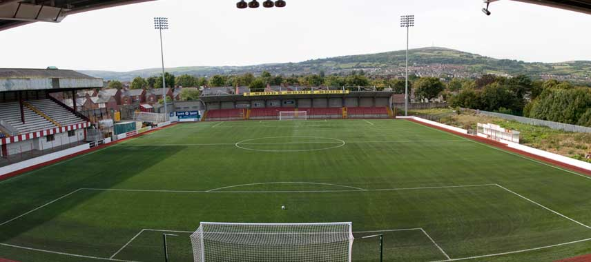 High view of the pitch at Solitude stadium