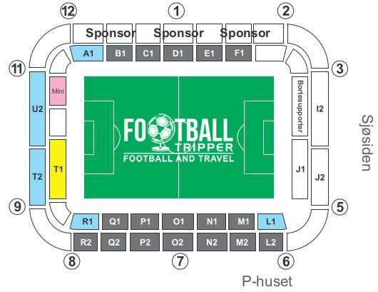 Sør Arena seating plan