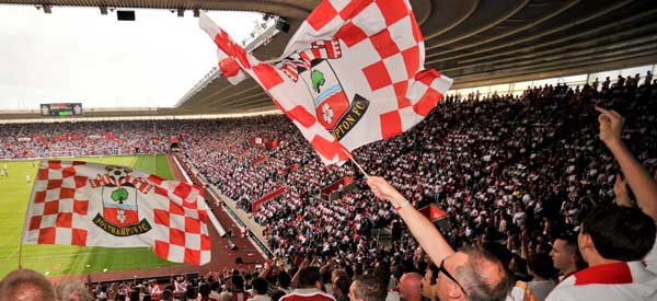 Southampton supporters inside the stadium