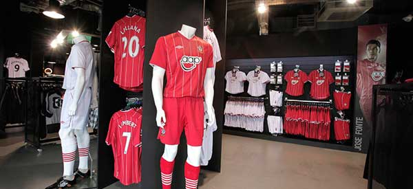The interior of Southampton's club store