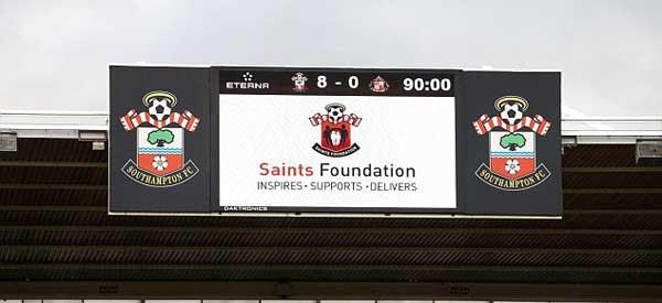 Southampton V Sunderland Scoreboard