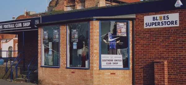 Exterior of Southend shop - the blues superstore