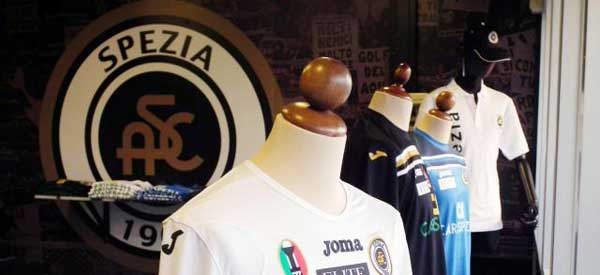 The interior of Spezia club shop