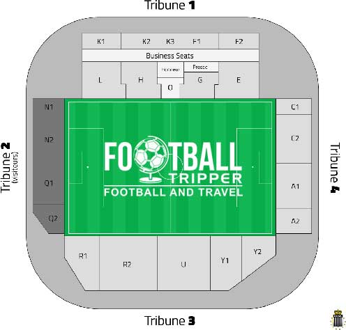 Stade du pays Charleroi seating plan