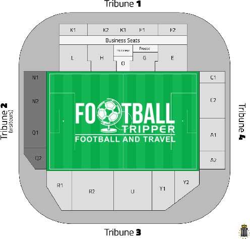 Stade du pays Charleroi seating plan