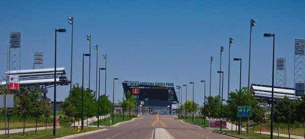 The main boulevard leading up to Colorado Rapids's home ground.
