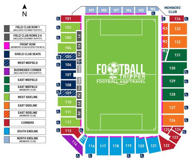 Sporting Park Seating Plan Kansas