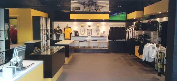 Interior of Sporting Lokeren club shop