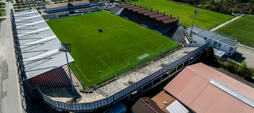 Aerial view of Sportpark Unterhaching