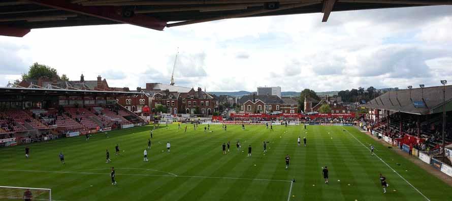 Inside St James Exeter Stadium
