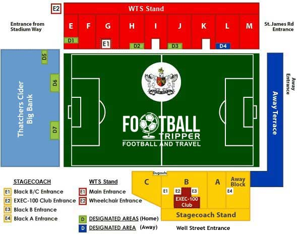 St James Park Exeter Seating Plan