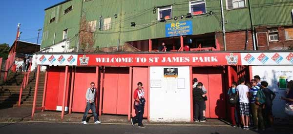 St James Park Exeter Exterior