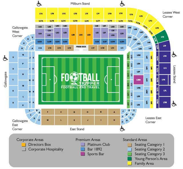 St James Park Seating Plan