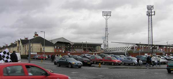 Some on street parking around St Mirren Park Stadium.