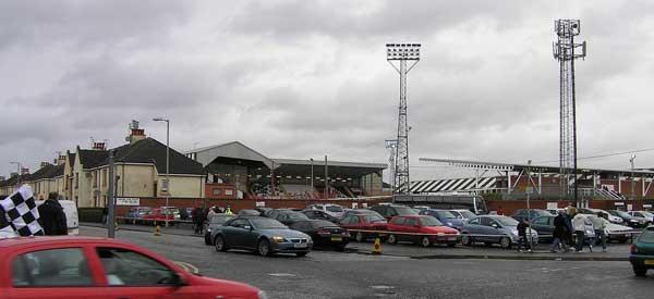 Some on street parking around St Mirren Park Stadium.
