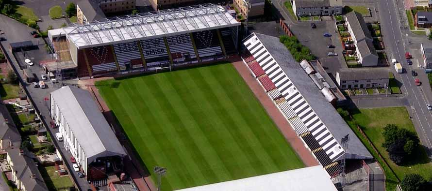 Aerial view of St Mirren Park