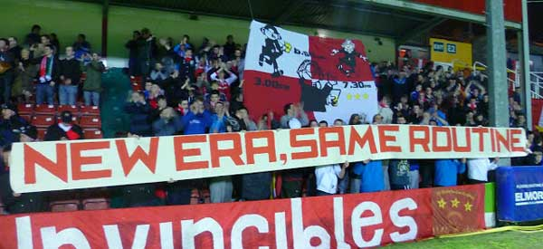 St Patricks Athletic supporters inside the stadium