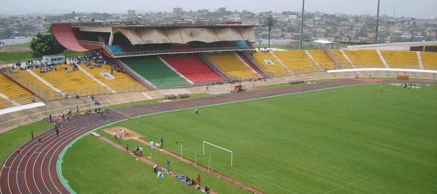 Inside empty Stade Ahmadou Ahidjo
